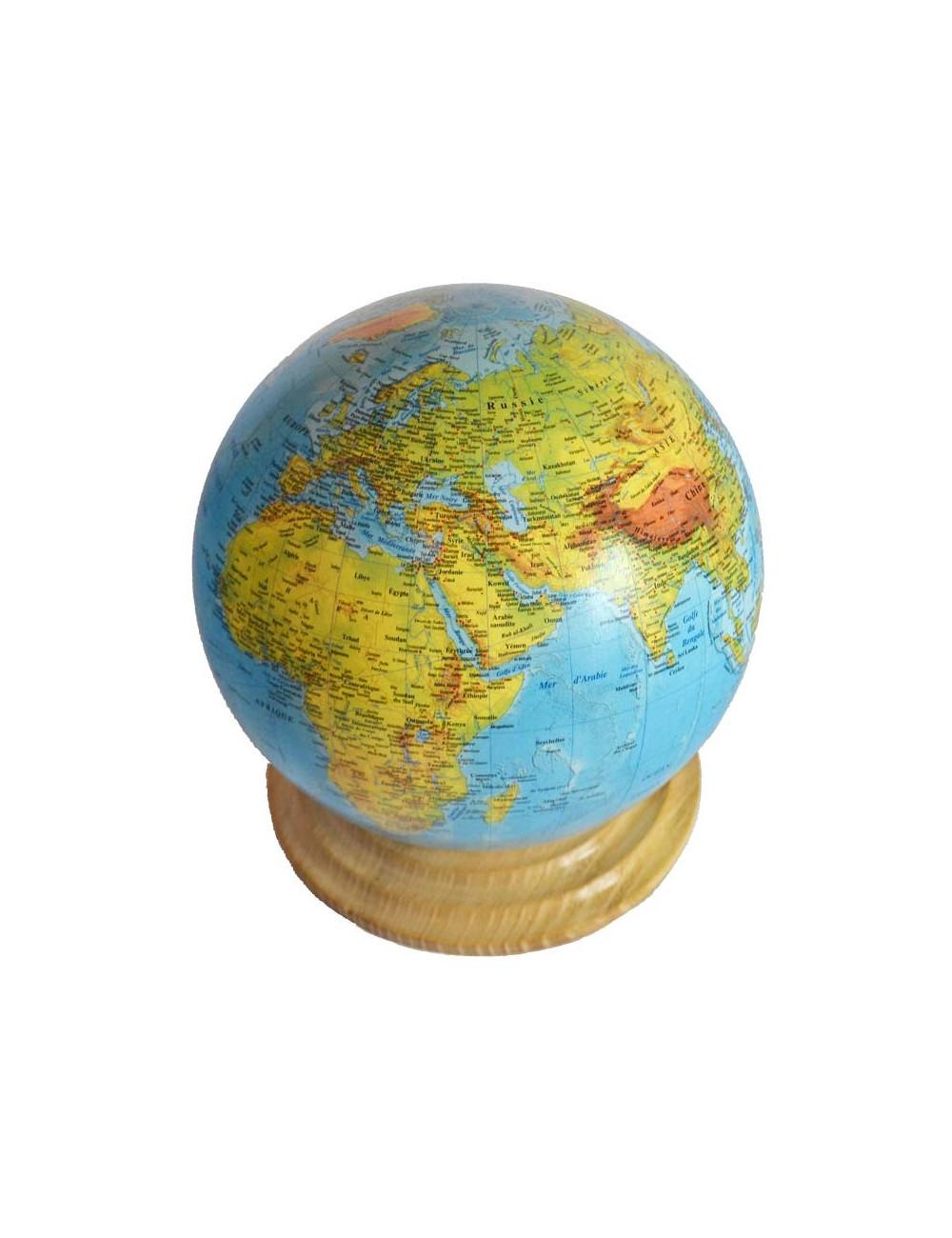 Globe TERRESTRE bleu 25.5 cm