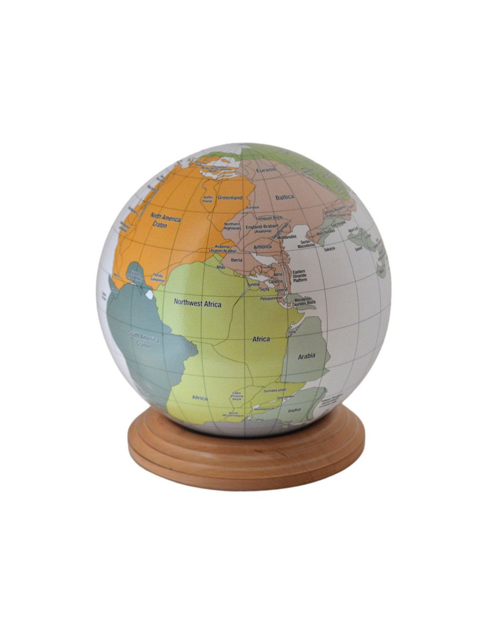 Globe de la Pangée 18.2 Cm