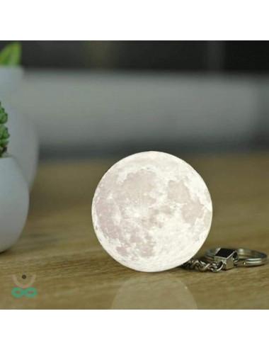 Porte clefs Lune Luminescente