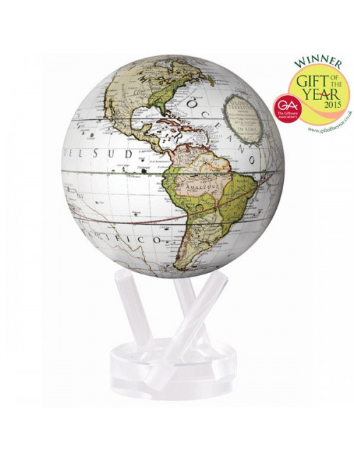 Globe MOVA autorotatif CASSINI blanc 216 mm (8.5')