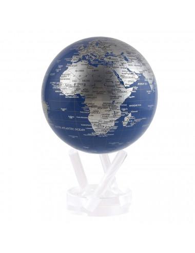Globe MOVA autorotatif Bleu/argent 114mm (4.5')
