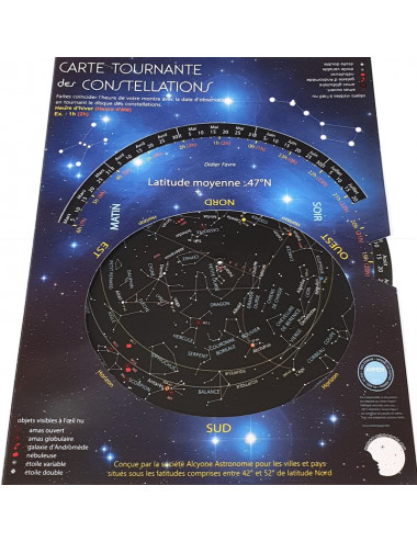 Carte Tournante des Constellations