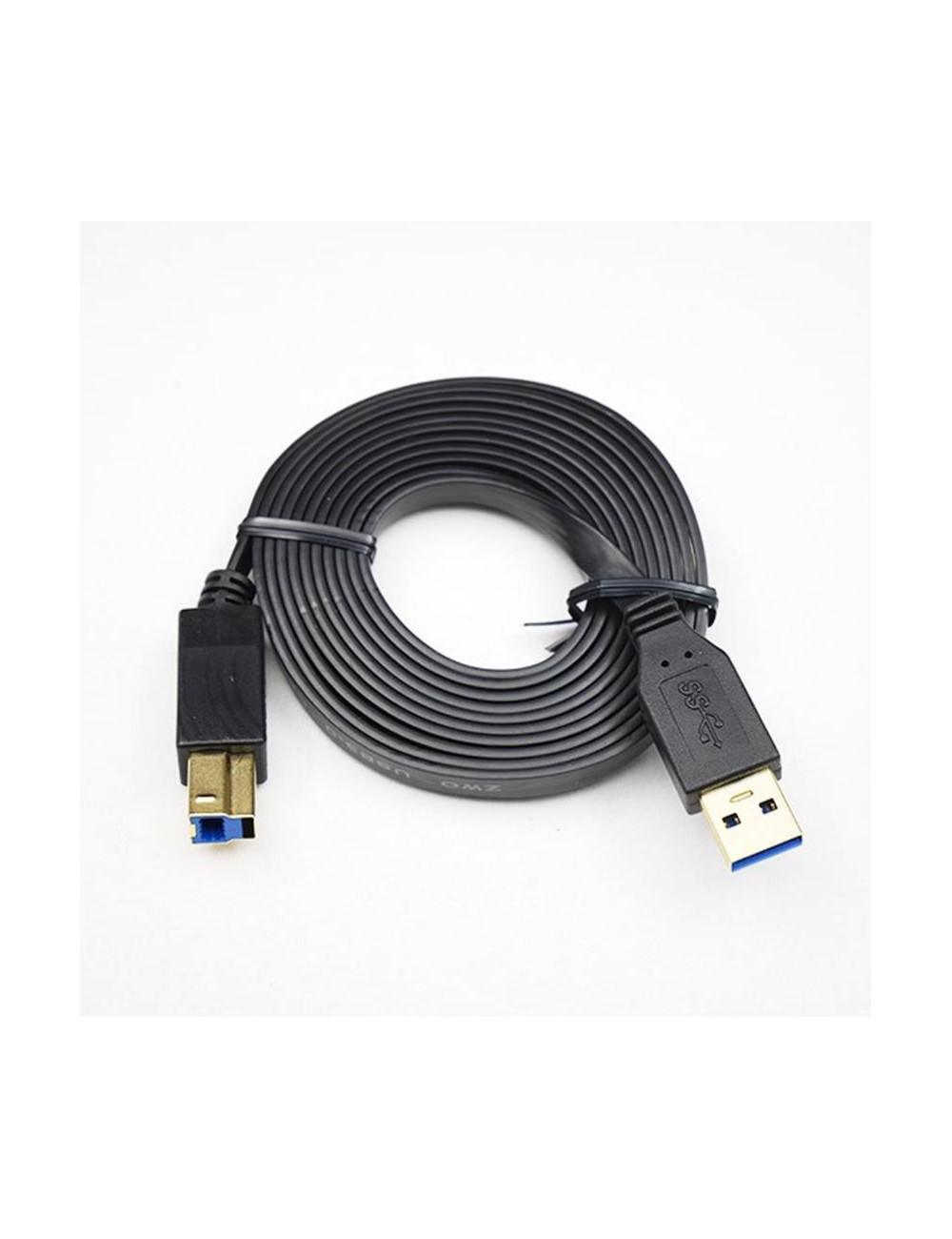 Câble USB3.0 type B vers type A plat en 2m ZWO