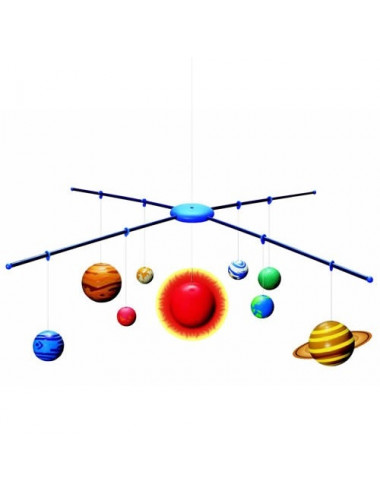 Mobile du système solaire en 3D