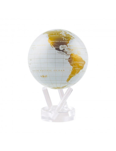 Globe MOVA autorotatif Blanc/or 114mm (4.5')