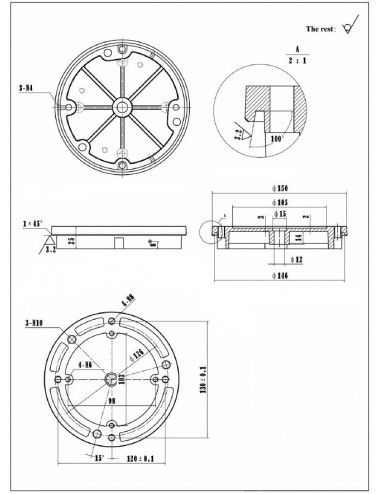 Adaptateur pilier iOptron...