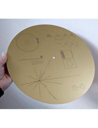 Plaque du disque Voyager