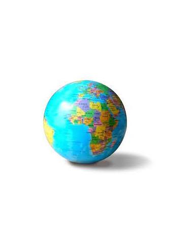 Globe 14 cm BLEU autorotatif