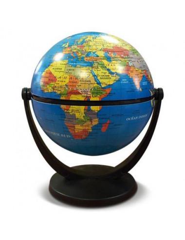 Globe 10 cm tournant Bleu