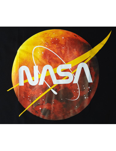 T-Shirt noir Logo NASA MARS...