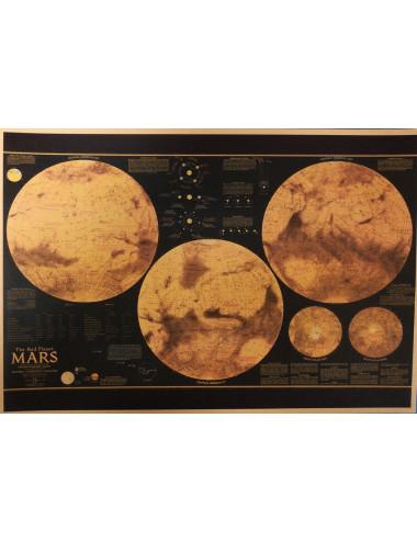Carte vintage kraft 21x30 MARS