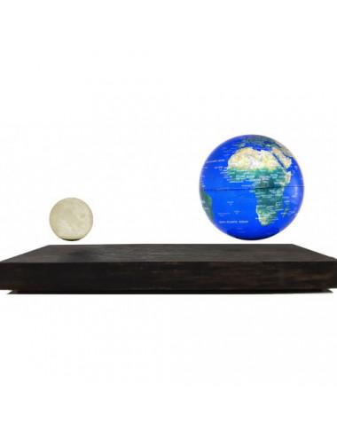 Globe Terre Lune en lévitation