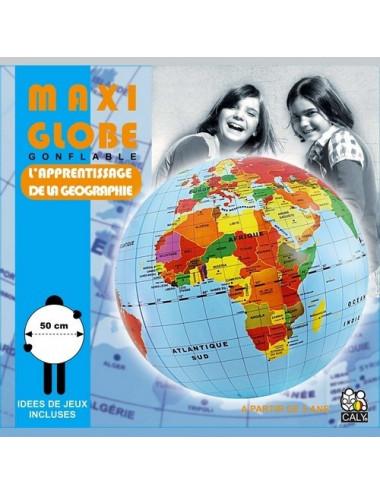 Globe terrestre gonflable - 50 cm