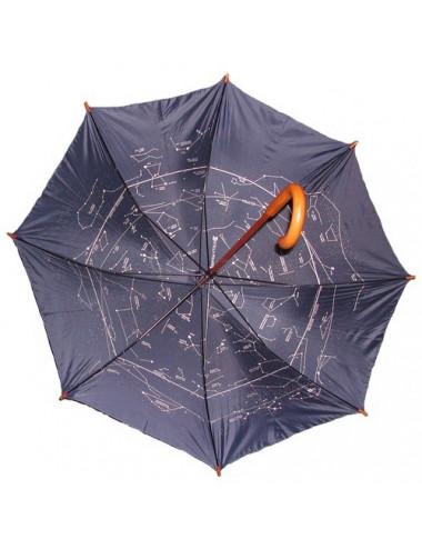 Le parapluie astronomique bleu