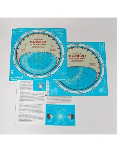 Planisphère pour latitude ± 10 degrés