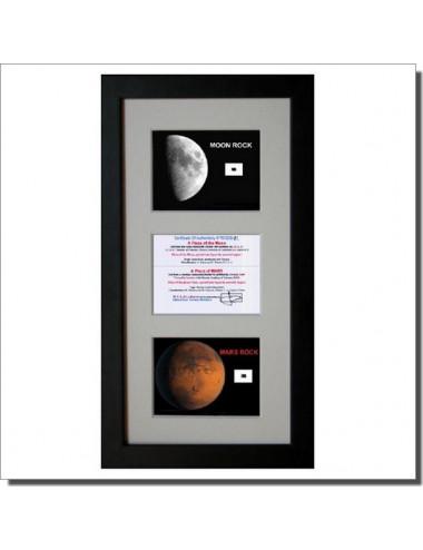 Fragment de Mars et de la Lune en cadre