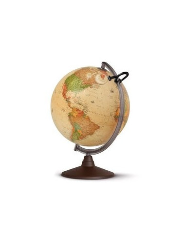 Globe lumineux Marco Polo antique 25 Cm