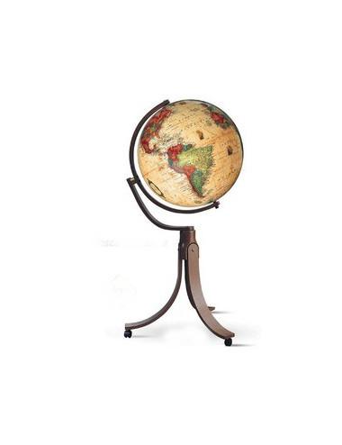 Globe terrestre lumineux  Emily Antique 50CM PIVOTANT