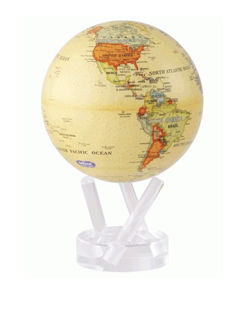 Globe MOVA autorotatif Antique beige 114 mm (4.5')