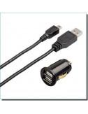 Adaptateur allume-cigare Dual Picollino USB/Mini USB