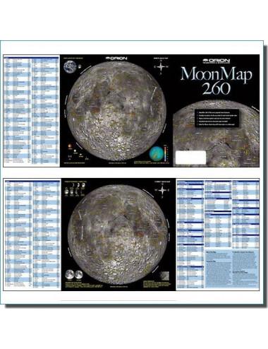 Carte de la Lune Moon Map 260 FR