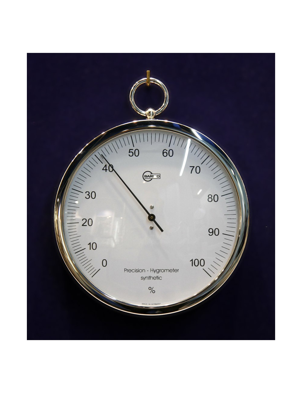 Hygromètre inox 130 mm