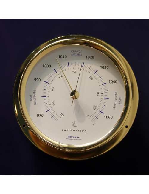 Baromètre laiton diamètre 100 mm BARIGO
