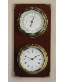 Baromètre et horloge laiton