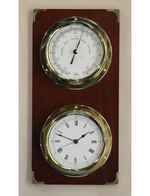 Baromètre et horloge laiton BARIGO