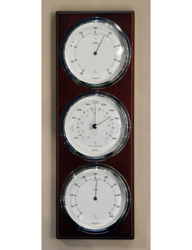 Baromètre / thermomètre / hygromètre chromé