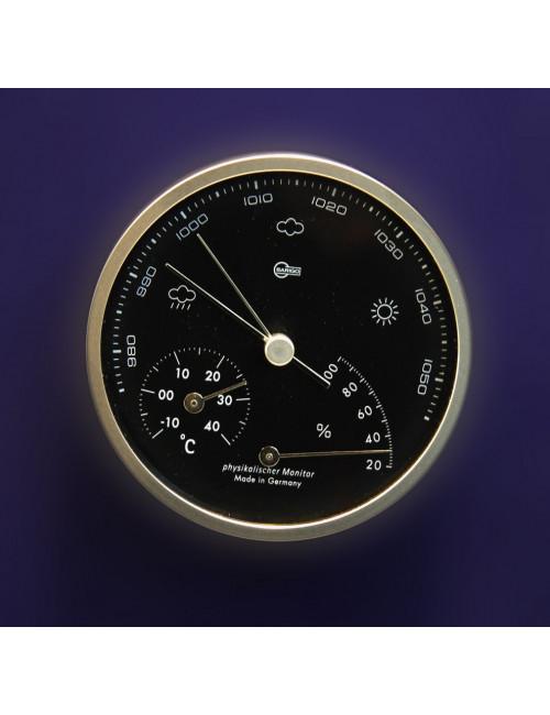 Baro / thermo / hygromètre design PORSCHE en alu brossé BARIGO