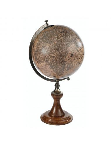 GLOBE Terrestre Hondius 1627 34.5Cm