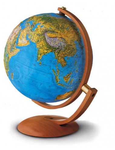 Globe Maximus bleu relief 30 Cm