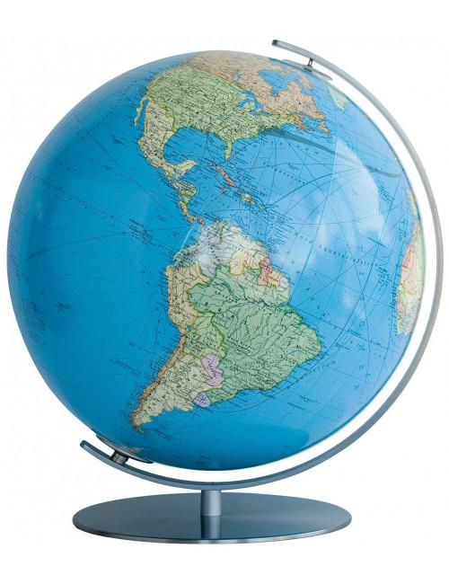Globe Terrestre lumineux Duo chromé 34 Cm