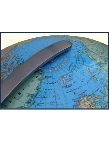 Globe Terrestre Duo chromé 34 Cm