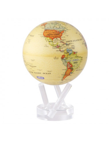 Globe autorotatif antique beige 152 mm
