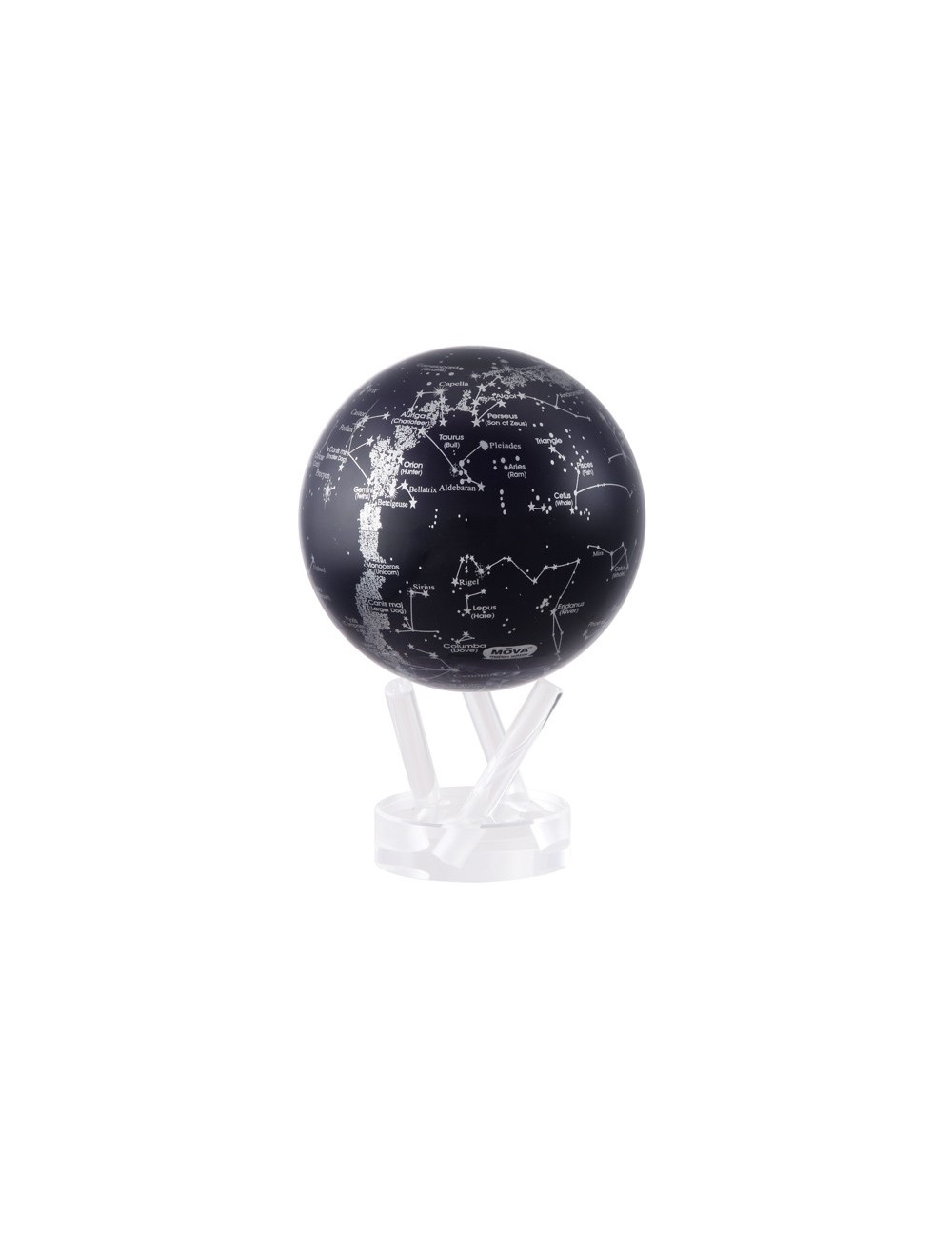 Globe autorotatif constellation bleu 114 mm