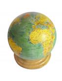 Globe terrestre vert 18,2 cm