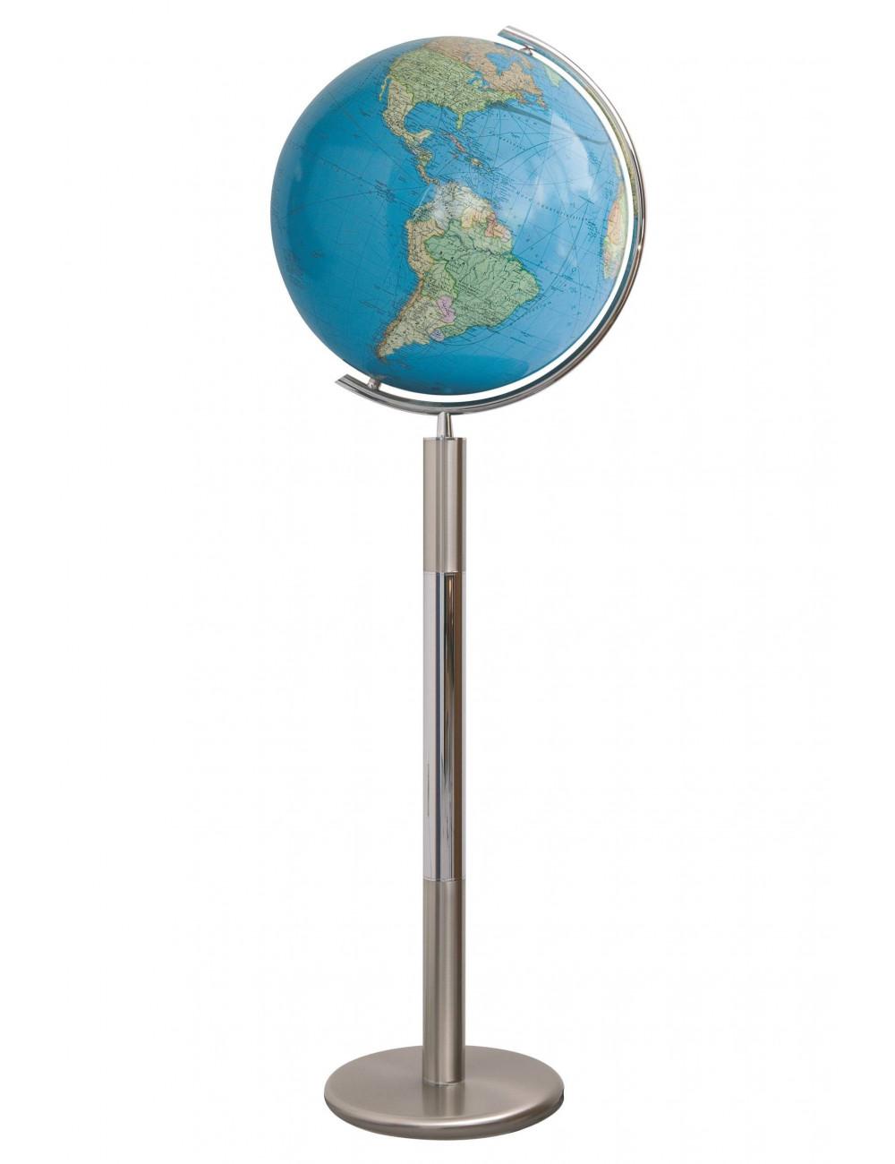 Globe Cristal sur pied acier DUO 40 cm