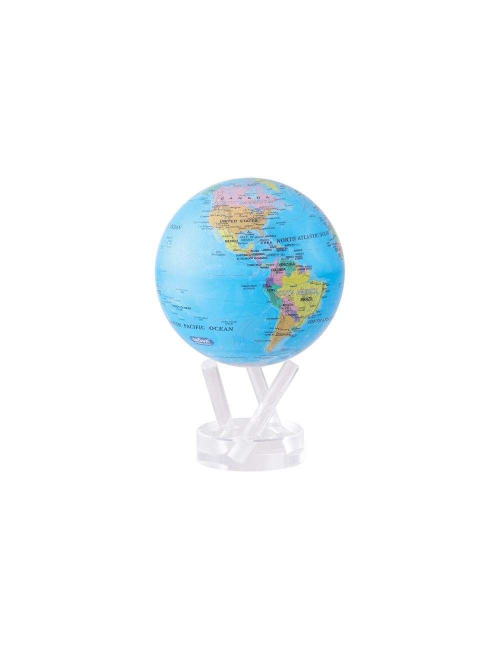Globe bleu politique 114mm