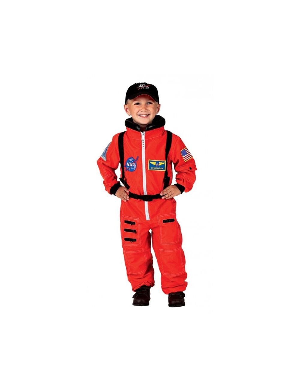 Combinaison orange astronaute 6/8 ans
