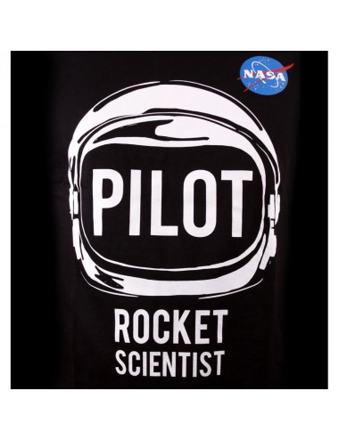T-Shirt NASA - Noir - Pilot Rocket - S