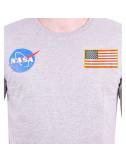T-Shirt NASA - Gris - logo drapeau - S