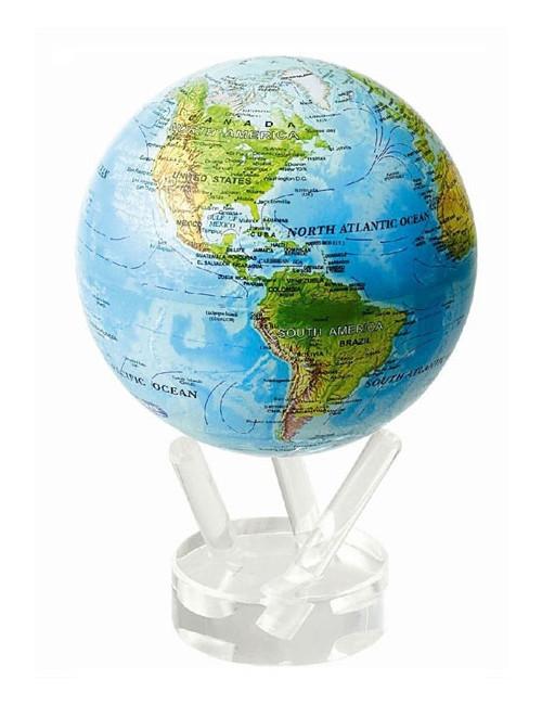 Globe MOVA autorotatif Bleu avec reliefs 152 mm (6')
