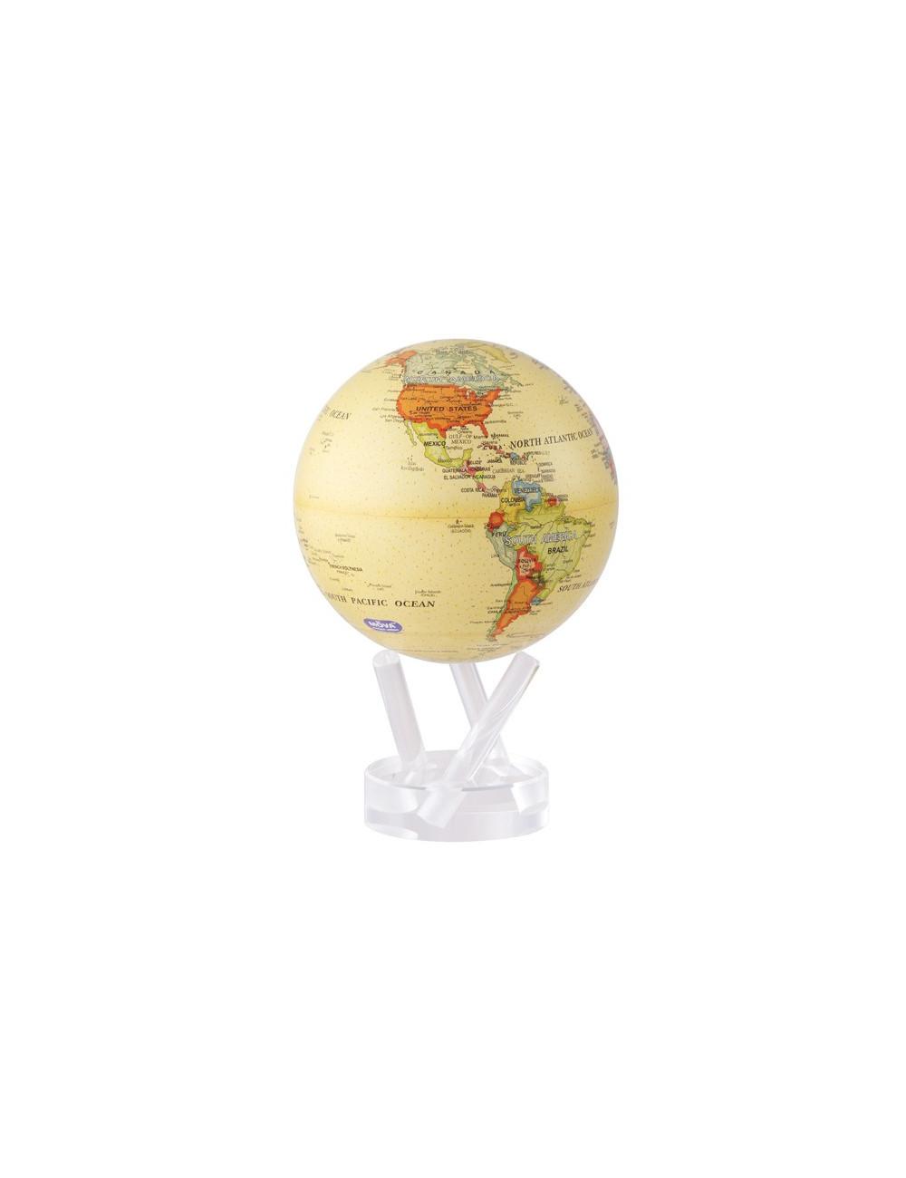Globe autorotatif antique beige 8'