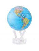 Globe bleu politique 8,5'