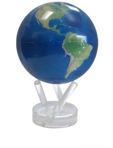 Globe autorotatif bleu / vue satellite 114 mm