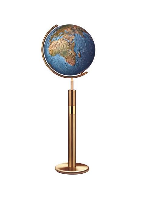 Globe Cristal pied gold acier DUORAMA 40 cm