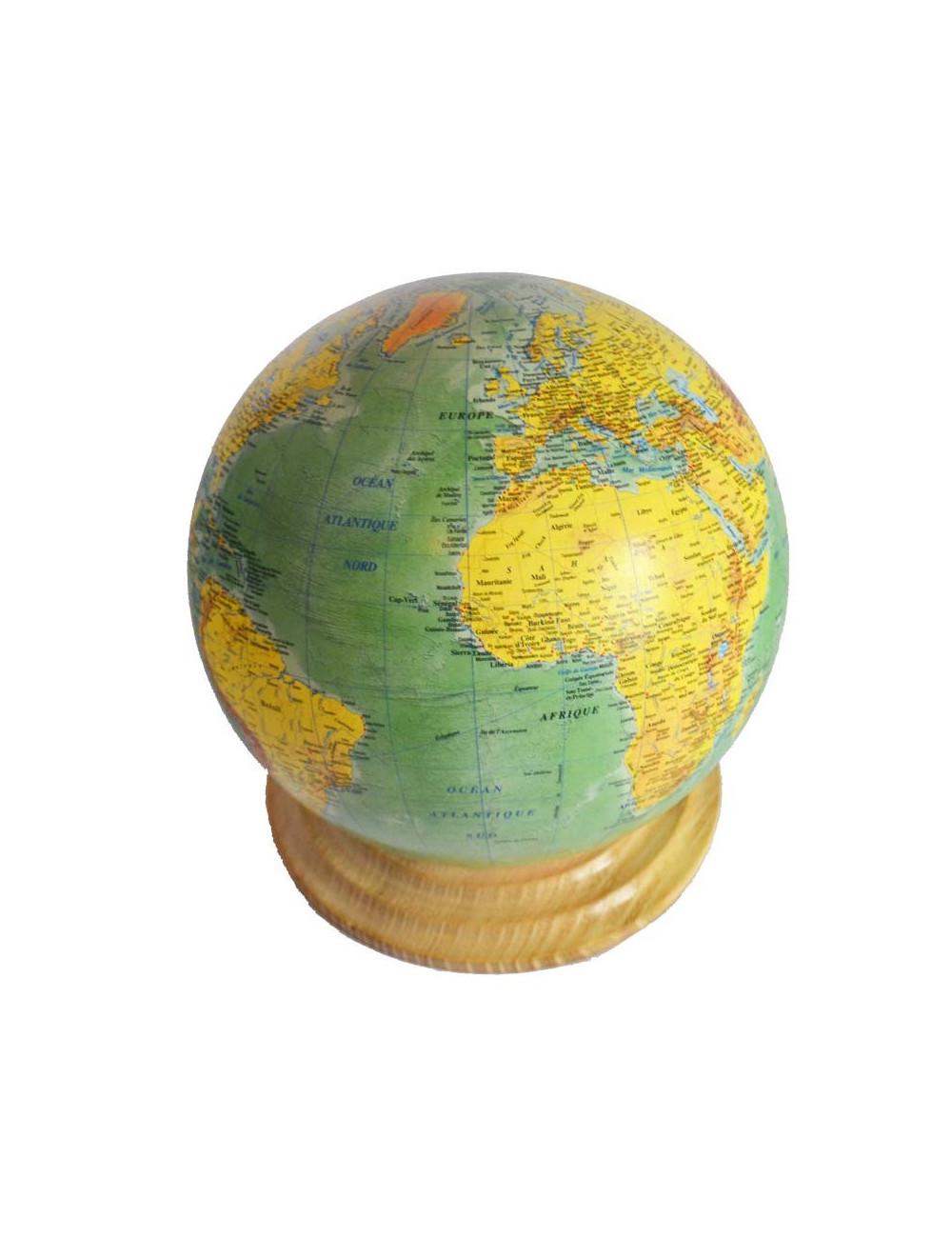 Globe terrestre vert 25,5 cm