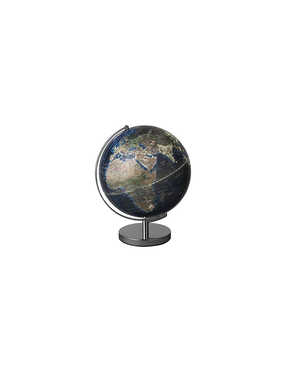 Globe 30 cm bleu lumineux